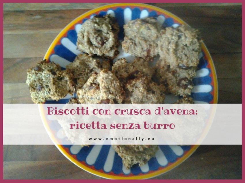 Biscotti con crusca d'avena