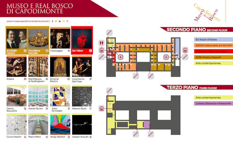 Mappa Museo di Capodimonte