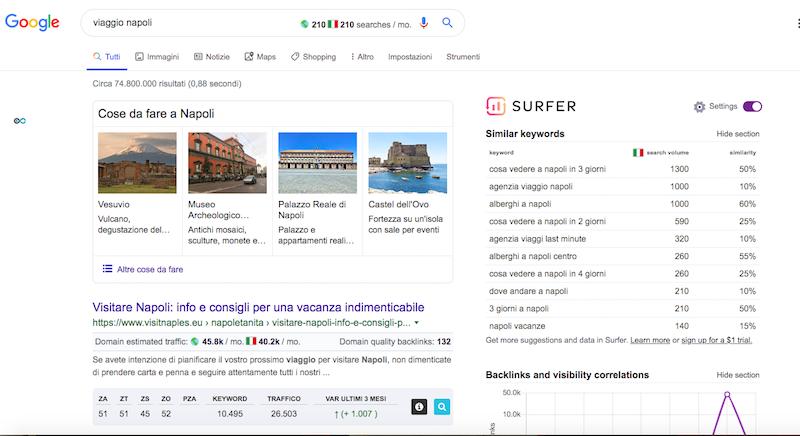 Keyword research Surfer