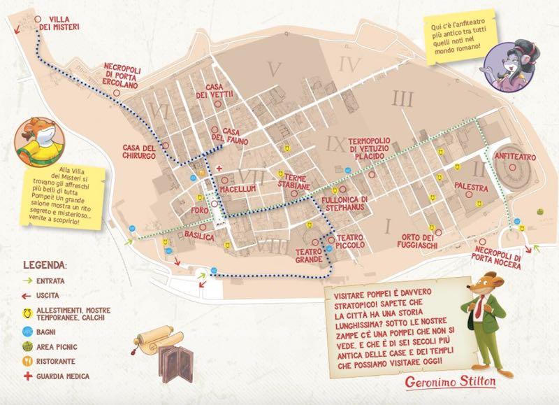 Mappa Pompei per Bambini